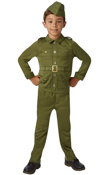 Rubie's Official WW2 Soldier Fancy Dress Children's Costume - Large