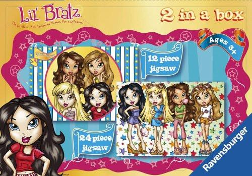 Lil' Bratz - 2 Puzzles in a Box  (12, 24 pieces)
