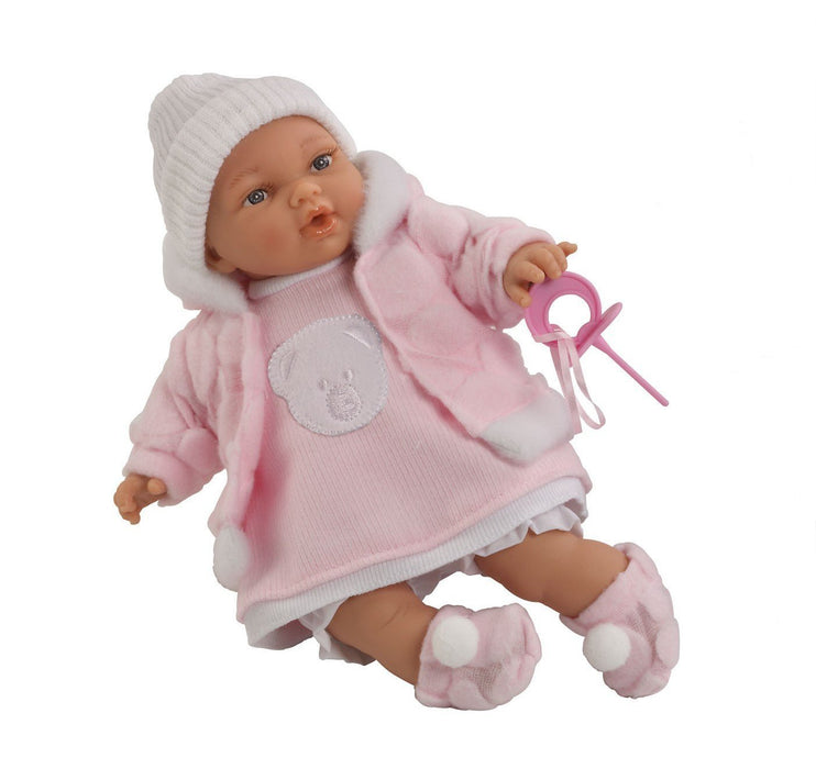 Arias 26 cm Elegance Hanne Doll with Crying Magnetic Mechanism in a Bag (Pink)