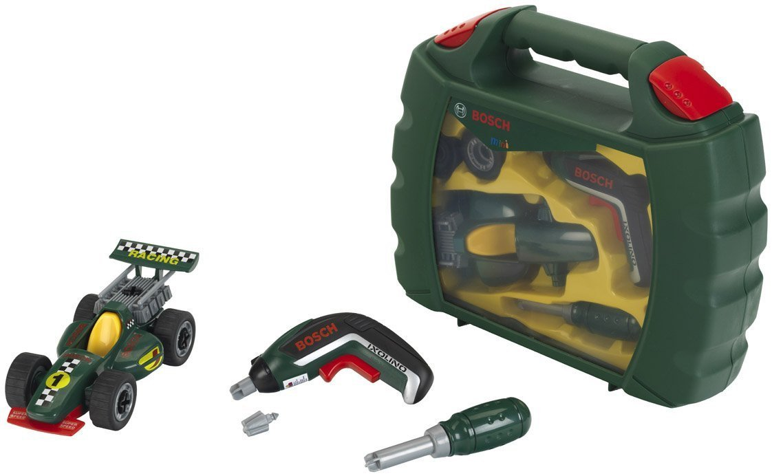 "Theo Klein 8395 ""Bosch Grand Prix"" Tool Case Set with Ixolino Ii-Cordless Drill"