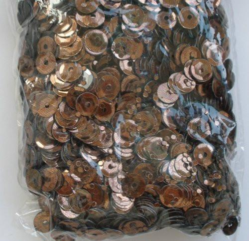 EFCO Round Cupped Sequins, Brown, 6 mm, 40 g, 4000-Piece