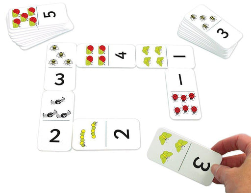 "Inspirational Classrooms 3158590 ""Numbers and Bugs Dominoes"" Educational Toy"