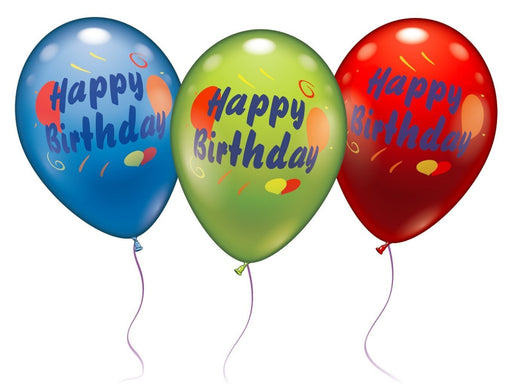 Karaloon 11-inch Balloons Happy Birthday (Assortment)