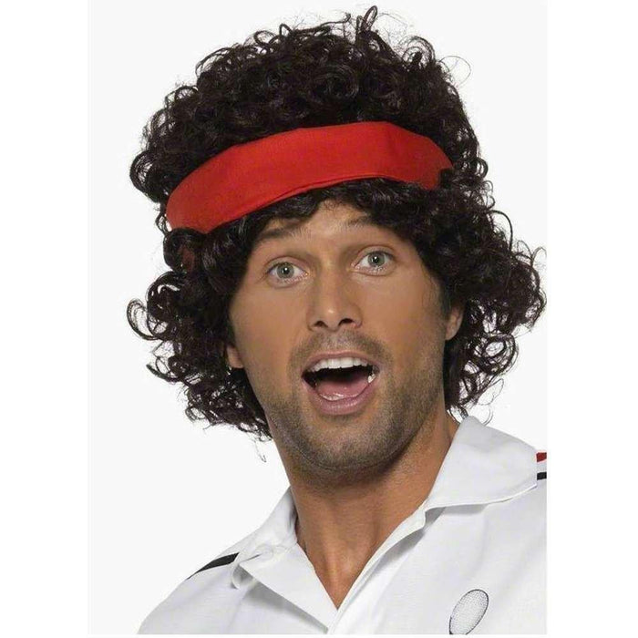 Smiffy's Eighties Tennis Player Wig with Headband