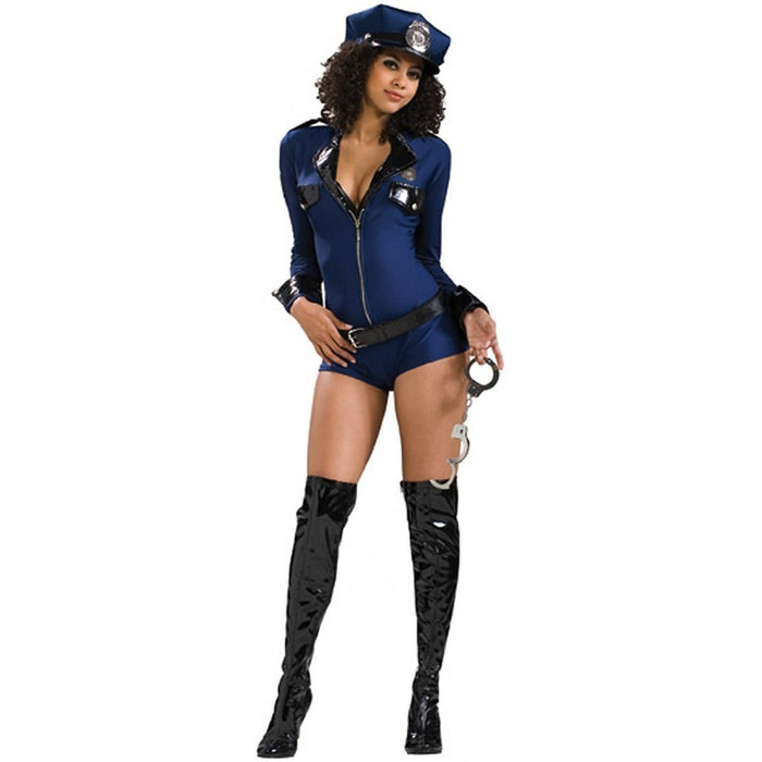 Rubie's Official Ladies Miss Demeanour Lady Police, Adult Costume - Small