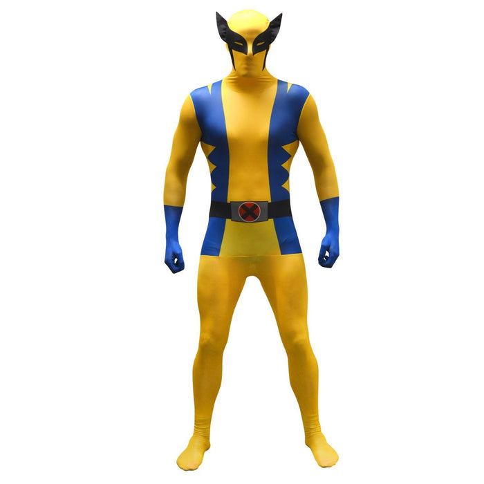 "Official Wolverine Basic Morphsuit Fancy Dress Costume - size Large - 5""5-5""9 (163cm-175cm)"