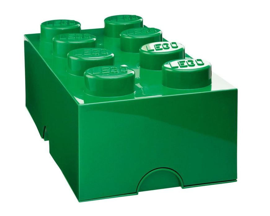 LEGO 8-Plug Storage Brick Toy (Green)