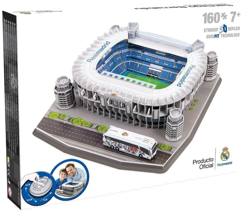 Nanostand Real Madrid F.C. Santiago Bernabeu Puzzle - Multicoloured, One Size