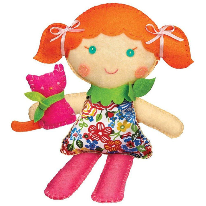 "4M ""Stitch a Doll\"" with Kitty Making Kit (Multi-Colour)"