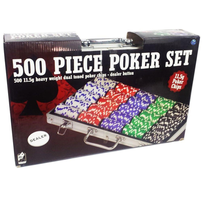 Spinmaster 6036778 11.5 g Dual Tone Poker Chip Set in Aluminium Case (500 Piece)