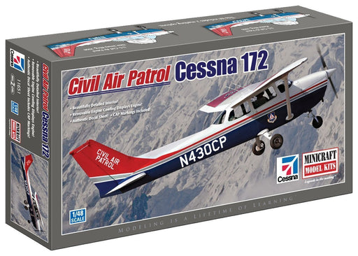 Minicraft 11651 Model Kit Cessna 172 Civil Air Patrol