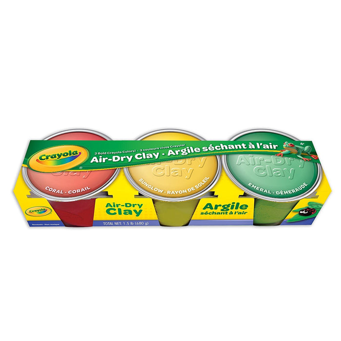 Crayola 3 Count Pastel Colors Air Dry Clay