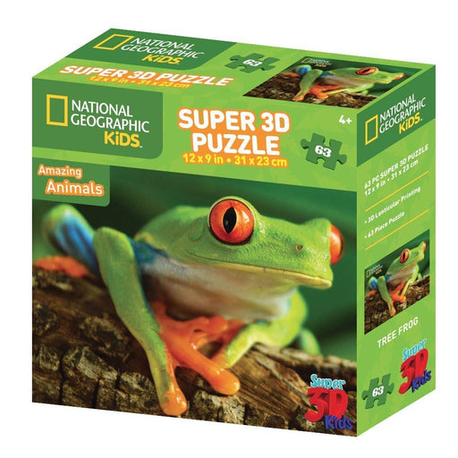 "National Geographic NG13556 ""Super 3D Tree Frog"" Puzzle (63-Piece)"