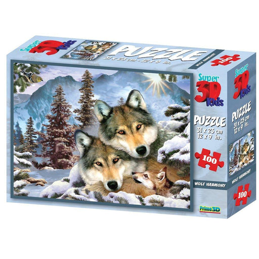 Howard Robinson HR10558 Super 3D Puzzle Wolf Harmony (100-Piece)