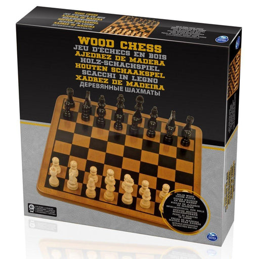 Spinmaster 6033302 Solid Wood Chess Set and Staunton Pieces