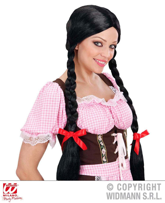 Gretel Long Plaits - Black Wig for Hair Accessory Fancy Dress