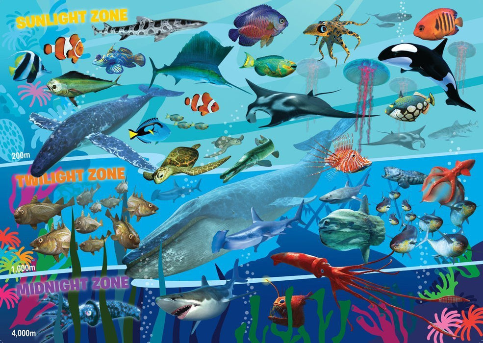 Ravensburger Underwater Realm, 60pc Giant Floor Jigsaw Puzzle