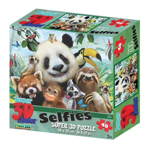 Howard Robinson HR10820 Super 3D Selfies Zoo Puzzle (48-Piece)