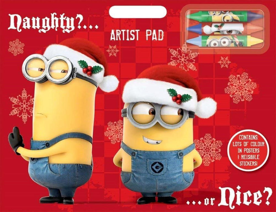 "Anker ""Despicable Me Xmas"" Artist Pad, Plastic, Multi-Colour"