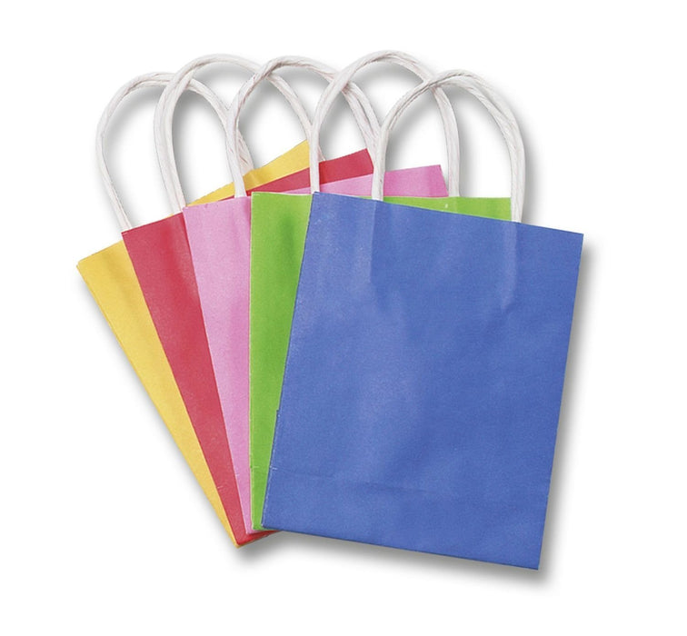 Folia 21209 - Paper Kraft Bags, 12 x 5.5 x 15 cm, 20 pieces, assorted colours