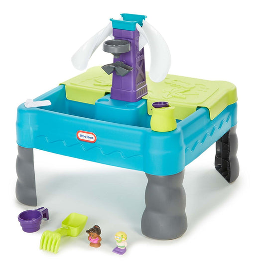 Little Tikes Sandy Lagoon Waterpark Play Table, Teal/Green