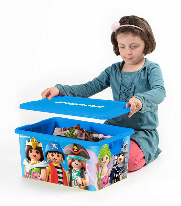 Playmobil 064672 Large 23-Litre Storage Box with Compartments, Mixed Compartmented Box