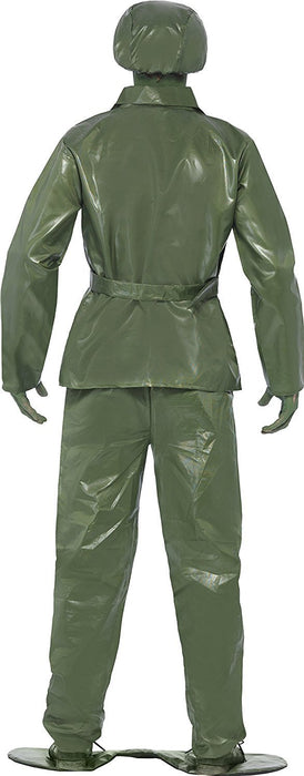 Smiffy's Adult men's Toy Soldier Costume, Top, trousers, Belt, Hat and Foot-base, Troops, Serious Fun, Size L, 23681