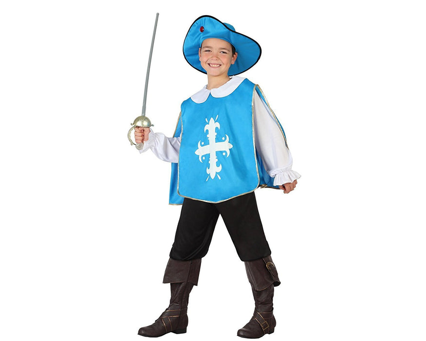 atosa 26820 - Musketeer Boy Size 4-5 Years Light Blue