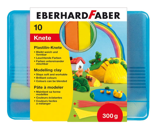 Eberhard Faber - Plasticine Clay Bars (10 Bars, Assorted Colours)