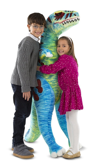 Melissa & Doug Jumbo T-Rex Dinosaur - Lifelike Stuffed Animal (over 1 meter tall)