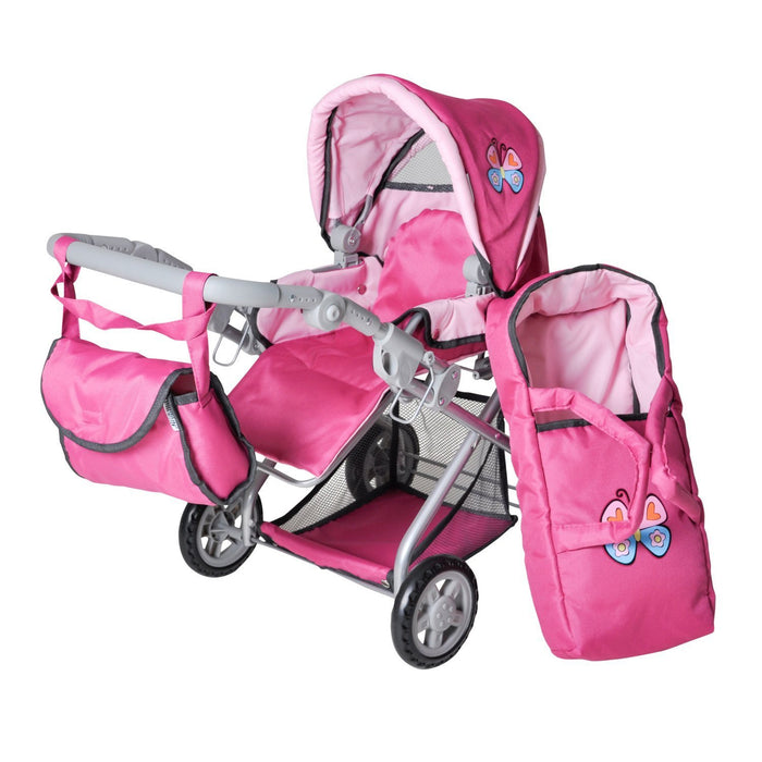 Knorr 61888, Doll's Pram Kyra with Butterfly
