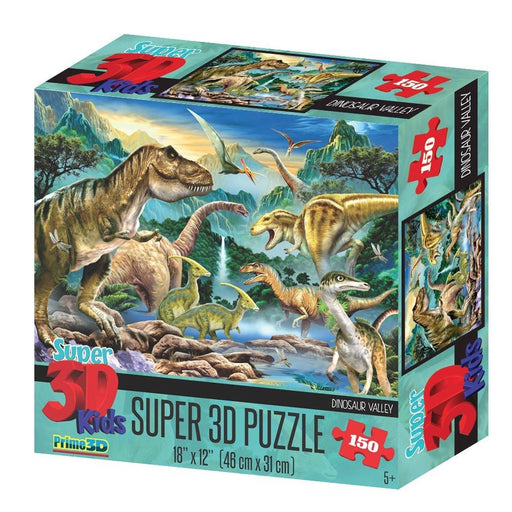 Howard Robinson HR10806 Super 3D Dinosaur Valley Puzzle (150-Piece)