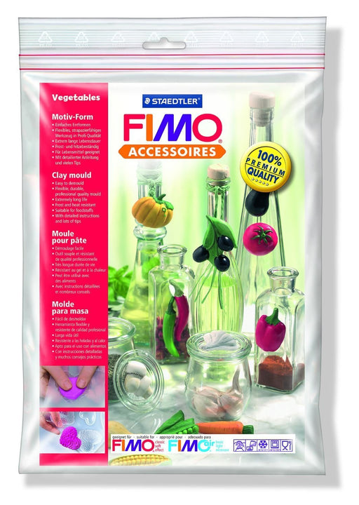 FIMO Vegetables Clay Mould, White