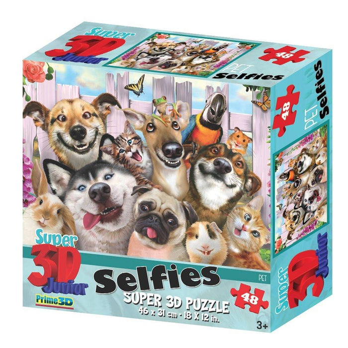 Howard Robinson HR10819 Super 3D Selfies Pets Puzzle (48-Piece)
