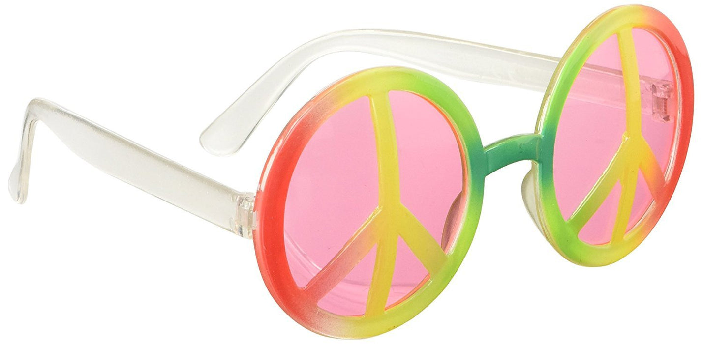 Bright Coloured Hippie Glasses