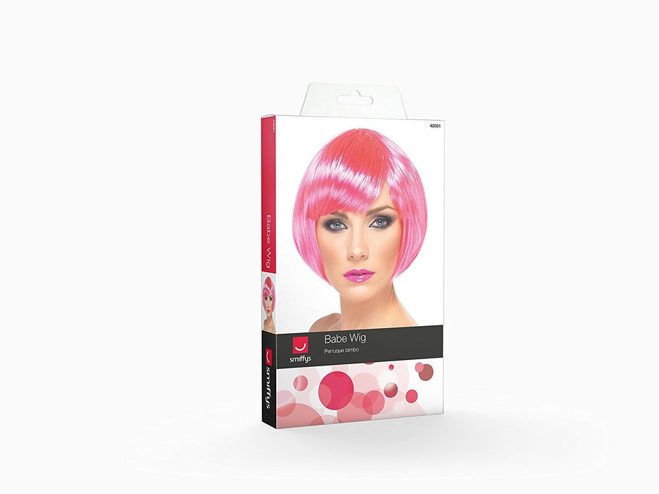 Smiffy's Babe Wig - Neon Pink