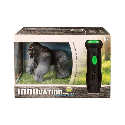 "Global Gizmos 54650 Battery ""Operated Infrared Torch Remote Control Silver Back Gorilla Lights and Sound"" Toy"