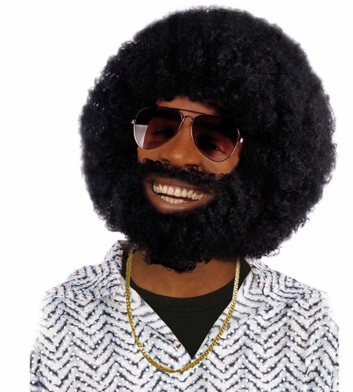 Boland 86311 - Wig Rufus in Afro with Beard, Black