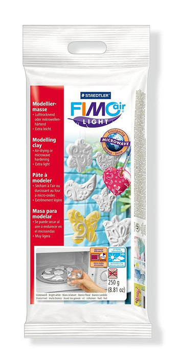 Staedtler Fimo Air Light 8131-0 Air Drying or Microwave Hardening Modelling Clay 250g - White