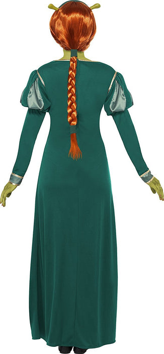 Smiffy's Women's Shrek  Fiona Costume, Dress, Headband & Ears, Shrek, Size: 16-18, Colour: Green, 39452
