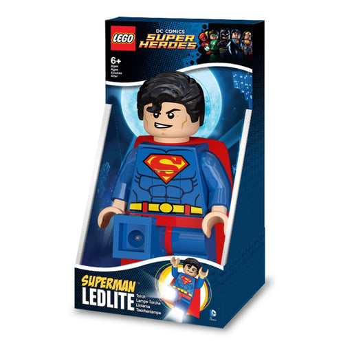 Lego Lights IQLGL-TOB20T DC Superheroes Superman Torch with Batteries and 30 Minute Timer Feature