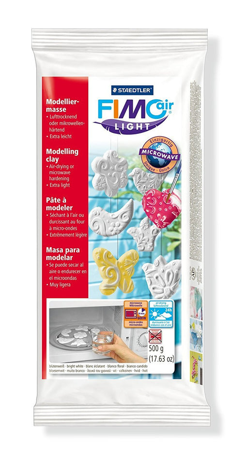 Staedtler Fimo Air Light 8132-0 Air Drying Modelling Clay 500g - White