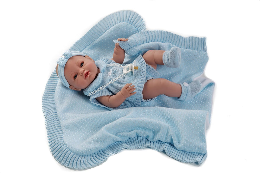 Berbesa - newborn baby doll with outift and shawl 42 cm (5101)