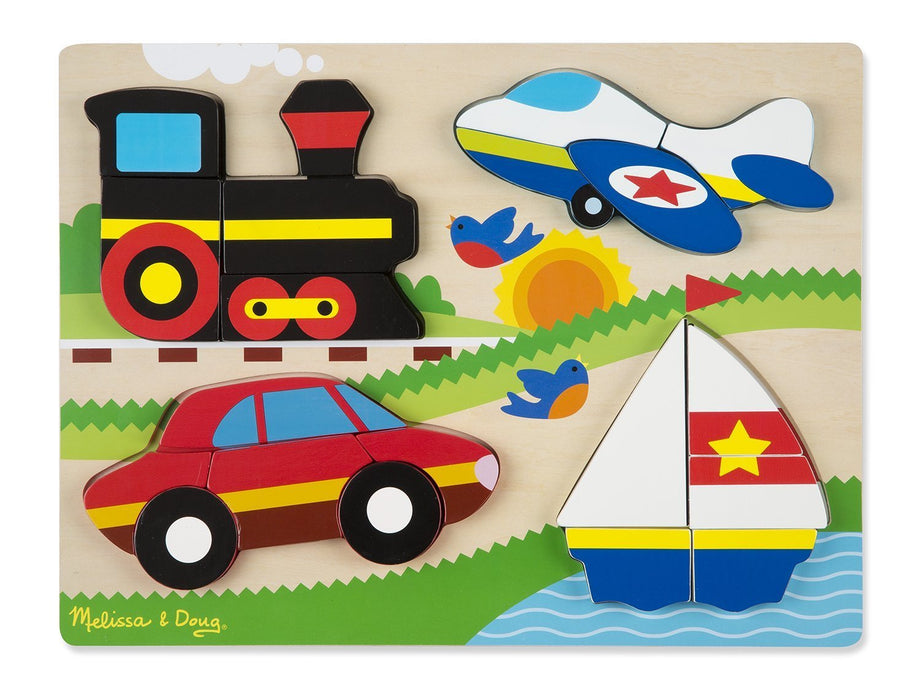 Melissa & Doug 11893 Vehicles Wooden Chunky Jigsaw Puzzle (20-Piece)