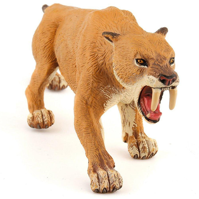 Papo Collectable Model Animal Toy - Smilodon Saber-toothed Tiger - Prehistoric Figure