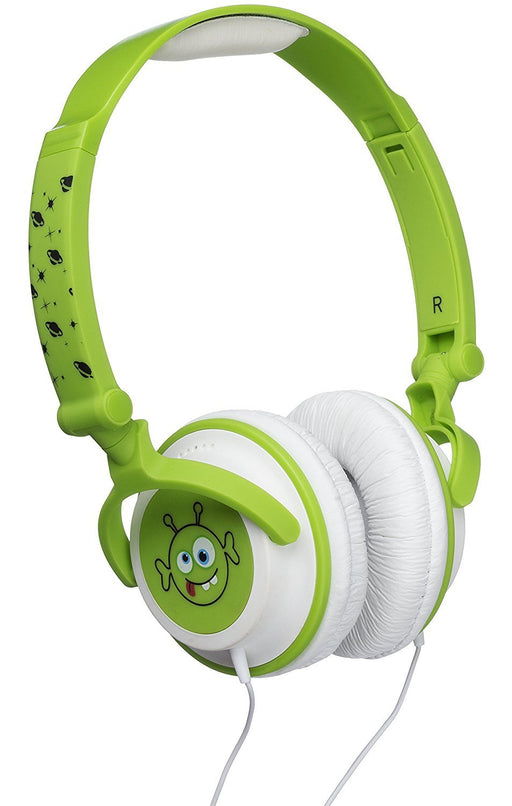 My Doodles by KitSound Fun Novelty Child Friendly Character 85Db Volume Limiting On-Ear Headphones Compatible with Smartphones, Tablets and MP3 Devices - Alien