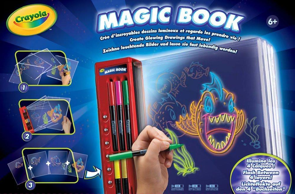 Crayola Magic Book Book - Kids 'Glow books (Book, Boy/Girl, Red, Box)