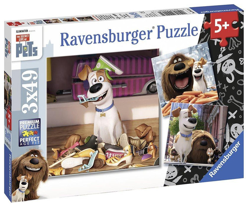 Ravensburger The Secret Life of Pets 3x 49pc Jigsaw Puzzles