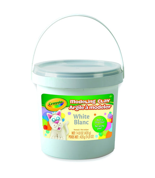 Crayola; White Modeling Clay; Art Tools; 15 OZ Bucket; Soft, Pliable Clay Won't Dry Out