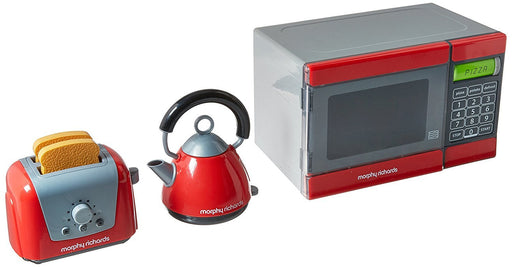 Casdon plc Morphy Richards Microwave/Kettle and Toaster Toy (Red/Grey)